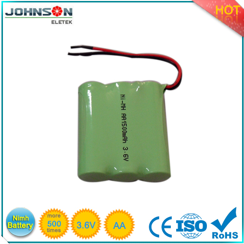 Hot Sale AA 2100mah 4.8V Nimh rechargeable battery pack from factory