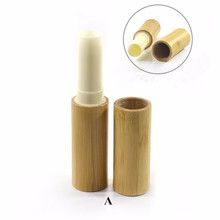 Natural bamboo wooden lip balm tube 3ml 5ml Lip gloss lipstick container for cosmetic
