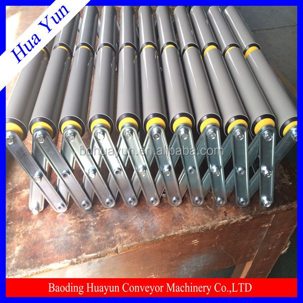 gravity pvc pipe conveyor roller with female thread shaft endling
