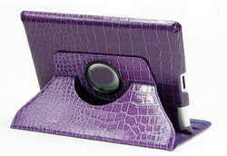 fashion style crocodile leather with holder cover 360 rotating case western leather case for ipad 3