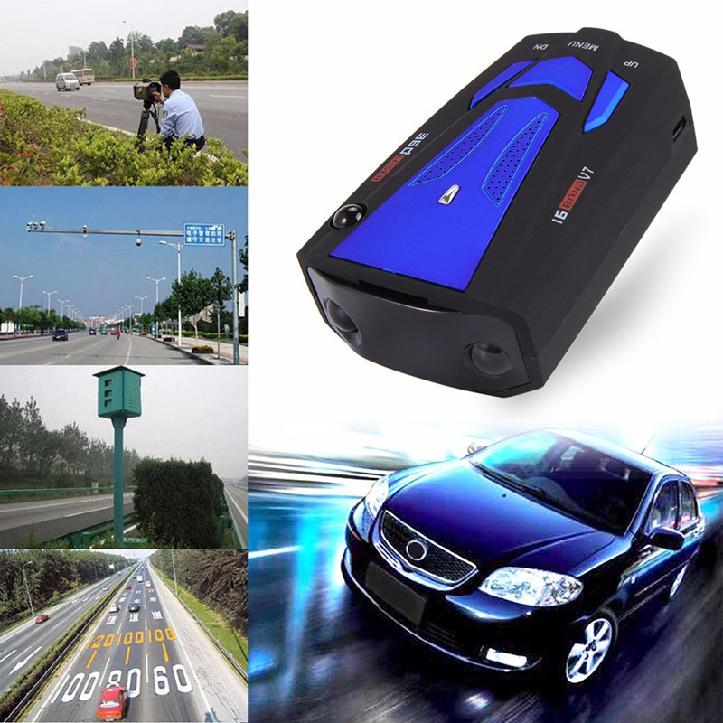 Radar Detector V7 Auto Voice Alert Warning Car Styling Speed Radar Car Mobile Electronic Dog