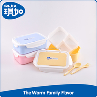 Good quality rectangular plastic PP lunch food storage container with divider