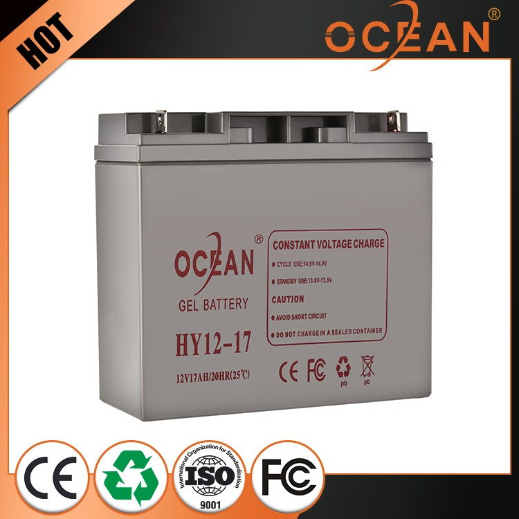Cheap featured 12V 17ah beautiful storage battery for car