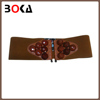 // brand new canvas beads wide elastic // belt coffee wide belt for women //
