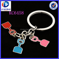 Mini Fashion interesting shovel shape Tool Metal keychains