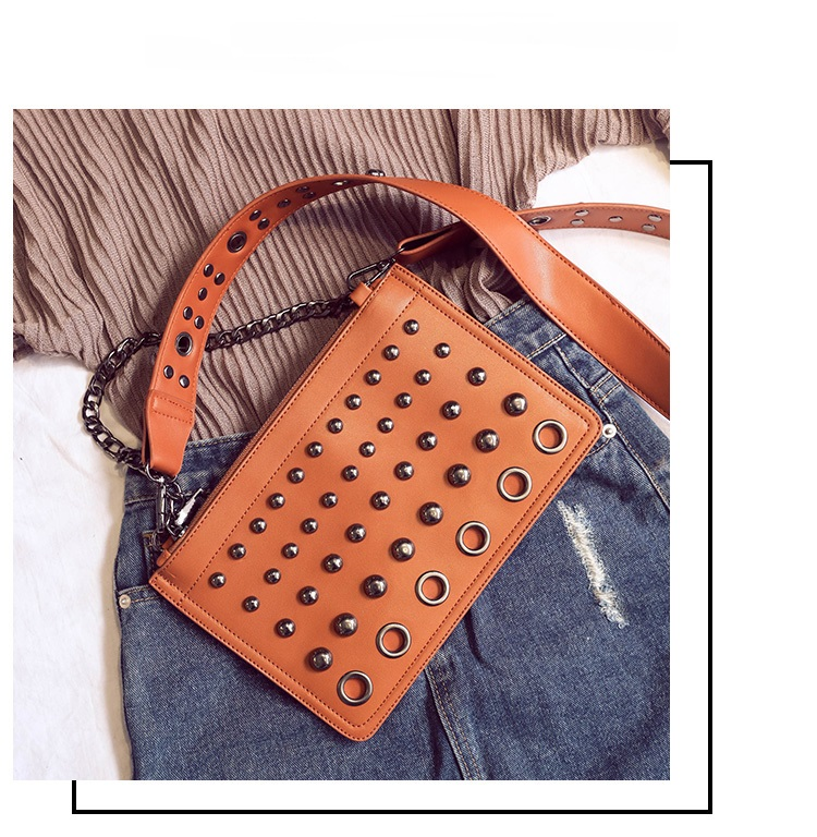 Latest design rivet ladies clutch and purse fashion shoulder bags