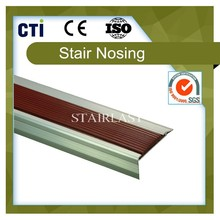 Natural polished surface rubber stair nosing (SLP-60/23)