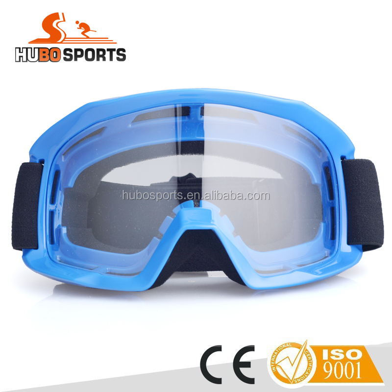 Transparent and colorful lens motorcycle motocross mx goggles with TPU and sponge HB-186
