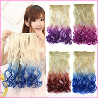 Hot sales cheap wave synthetic hair clip hair extension Graduate Color