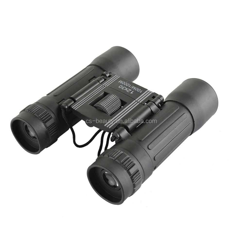 Hd Wide-angle Binoculars Telescope 12X30 Portable Red Membrane Optics Binocular for Hunting Mini Telescope Luneta Binoculos