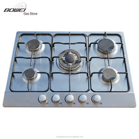 Crazy selling 5 burner gas stove auto ignition