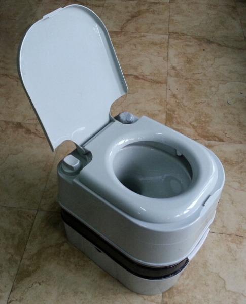 grey one piece 10L 20L used western indoor disabled flush hospital marine mobile wc camping plastic portable toilet for sale