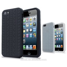 Novelty shockproof tyre grain pattern protective soft tpu case for iPhone 5 5s, mobile cover for iphone 5 5s
