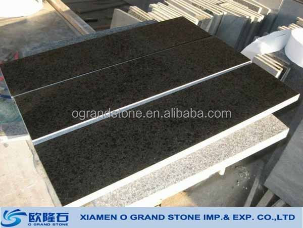 G684 Fuding black granite stair tread natural stone stair tread