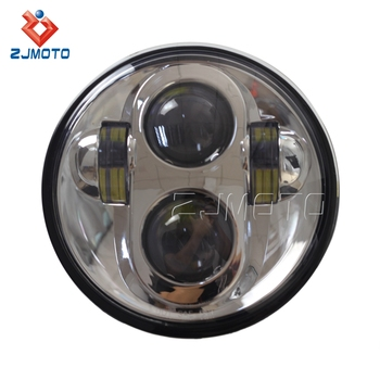 New Design Chrome 5.75 '' Day Maker Motorcycle Projector LED Headlight For Harley