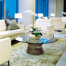 Tempered glass Platner Low Table round coffee table