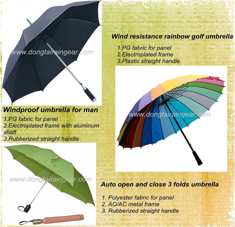 Black new magic color change straight umbrella with wooden handle