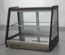 Commerical counter top pastry display showcase cooler for bakery