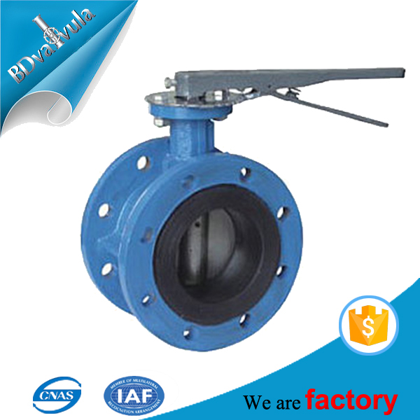 ASTM Class150 lever operated flanged butterfly valve made in China