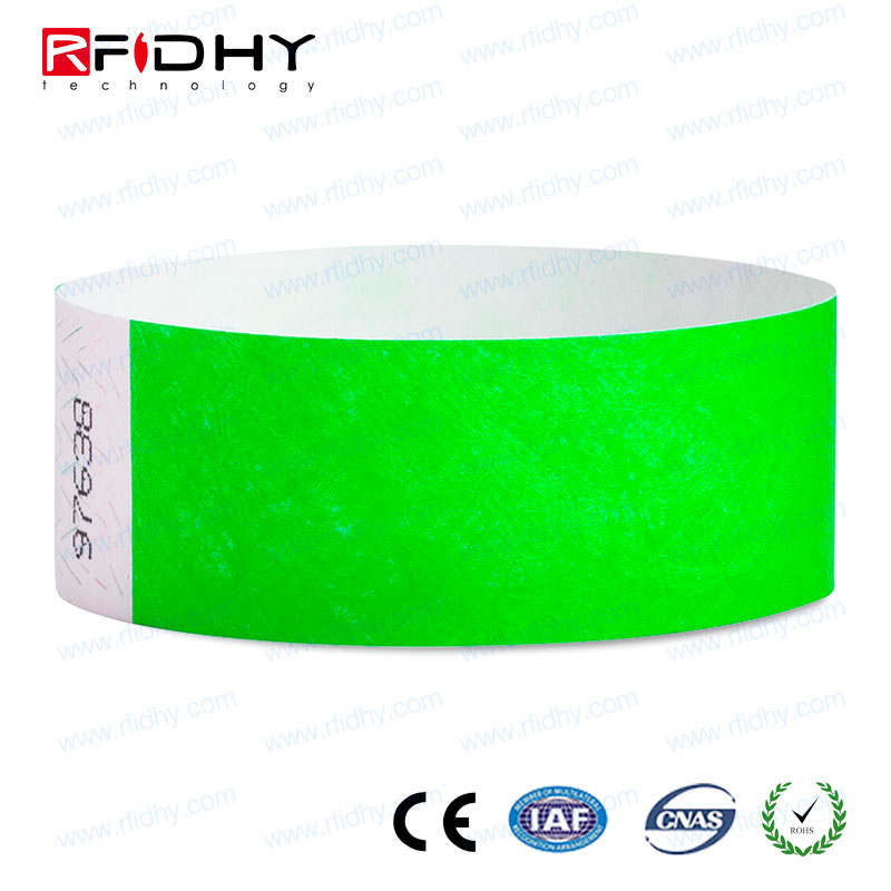 Good Quality UHF RFID Disposable Paper Wristband for Hospital Management