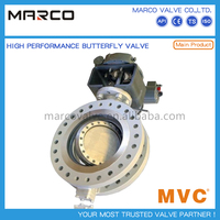 Hot sale lever/gear or actuated operate triple eccentric offset hard surface seal butterfly valve
