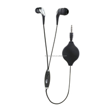 Newest retractable earbuds earphone with mic
