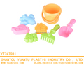 New Arrive children's outdoor colorful 7PCS Tools Plastic Beach Toy For Girls
