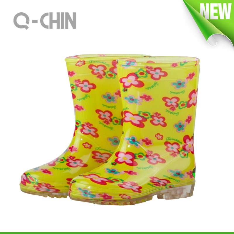 K037 colorful printing china manufacturer pvc gumboots