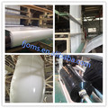 Black and white panda film for commercial aquaponic farm