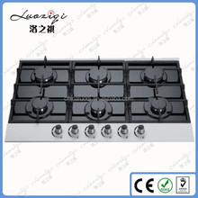 Nice Quality Built in Type Kicthen 6 Burner Gas Hob