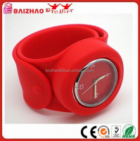 New Product Silicon Slap Watch Wristband Watched