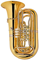 Bb Key gold lacquer Stainless steel Piston 4 Rotary Marching Children Tuba