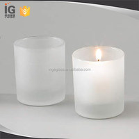 Frosted glass votive candle holders Tabletop Accessories