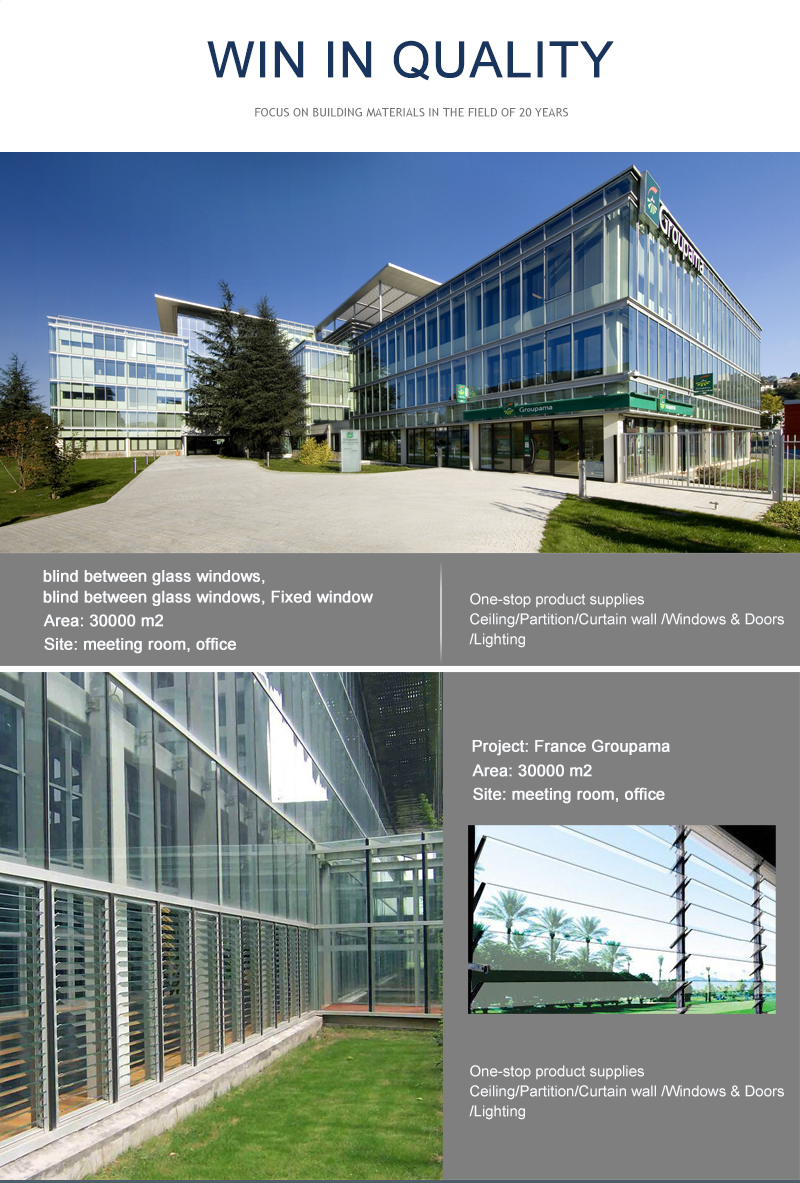 SGS Certificated attractive aluminum window glass