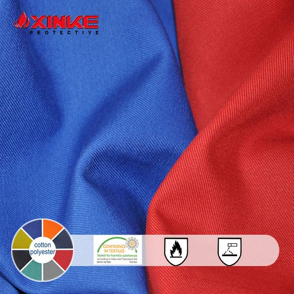 twill 100 cotton fire retardant fabric for pants