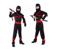 Stealth Ninja costume Child Kids Boys Fancy Dress Up Party cosplay wholesale Halloween Costume