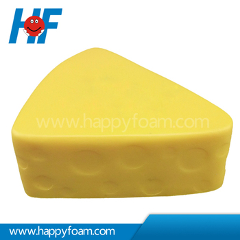 Cheese Shaped Soft PU Toys For Promotion