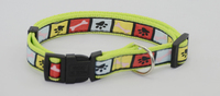 strong pet/dog collar in polyester with leads