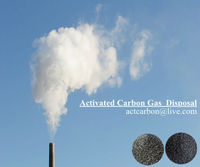 Black Activated Charcoal Filters For Gas Disposal
