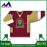 2016 Dye sublimation slim fit colorful toddler blank ice hockey jerseys