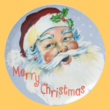 Cheap Promotional personalised porcelain Christmas plates to Santa