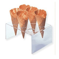 custom design acrylic ice cream cone display case
