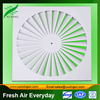 HVAC square swirl ceiling air stone diffuser variable swirl air diffusers