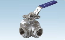 THREE WAY BALL VALVE WITH DIRECT MOUNTING PAD THREAD CONNECT