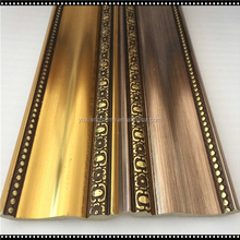 factory price ps gold fancy flower embossed design plastic crown cornice ceiling moulding