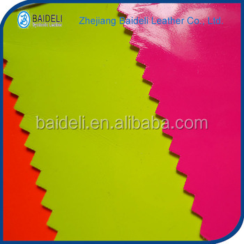 high quality mirror pvc pu vinyl fabric synthetic leather for bags