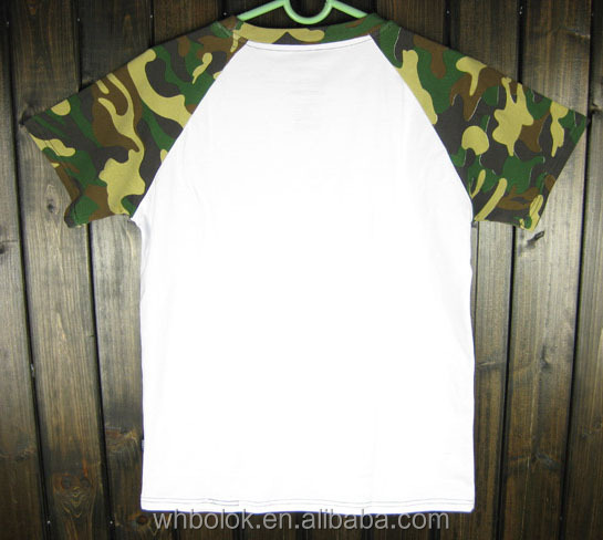 High quality t shirt white fashion short sleeve camo O-neck polo t shirt