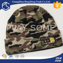 Outdoor sport ski warm wool camouflage beanie hat