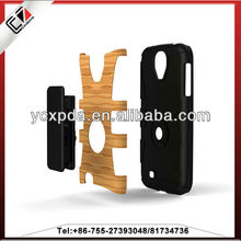 Back splint case with 2 in 1 PC+lagger for Samsung galaxy S4, Patent design for Samsung galaxyS4