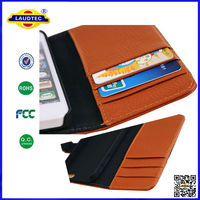 Genuine Leather Wallet Case for iPhone 5s for iPhone 5s Real Leather Wallet Case